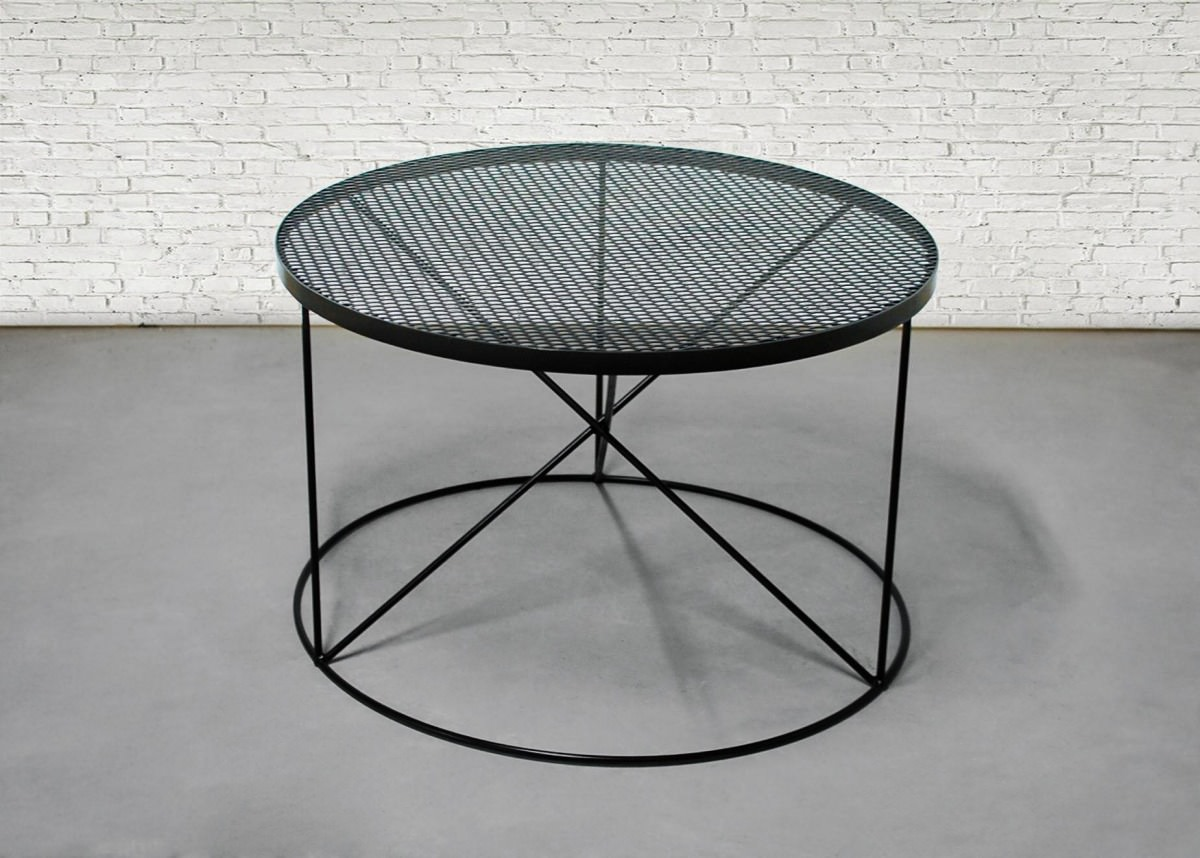 Brentwood Round Metal Coffee Table Southern Sunshine