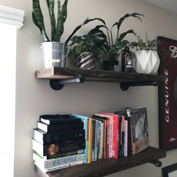 Mallex Wood Pipe Shelves