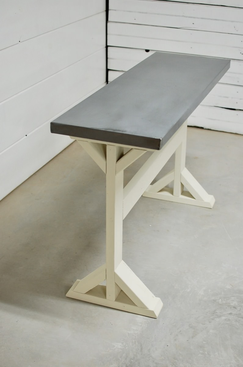 Kinley Zinc Console Table Southern Sunshine