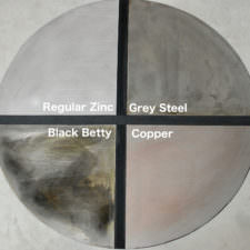 Zinc Patina Color Options