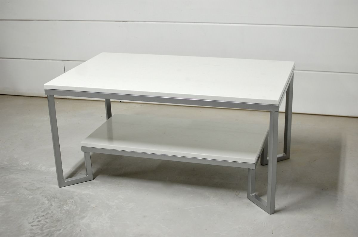 Two Tier Marble Coffee Table Southern Sunshine
