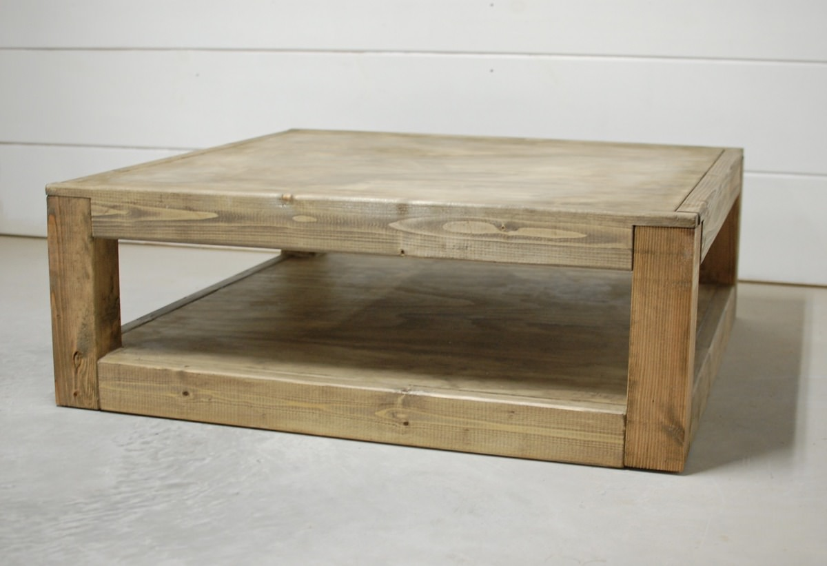 Colton Square Wood Coffee Table Southern Sunshine