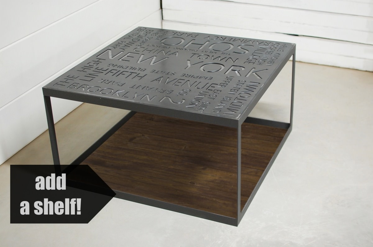 Maximus Atlanta Industrial Coffee Table Southern Sunshine