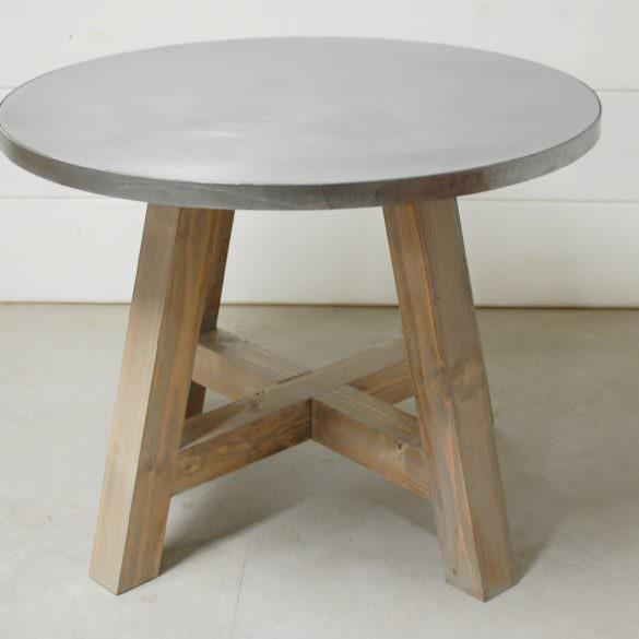 Gemma Zinc Dining Table
