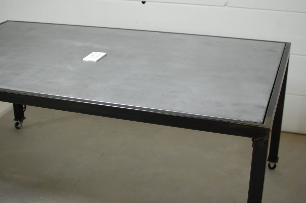 Zinc Conference Table with USB Charging Station