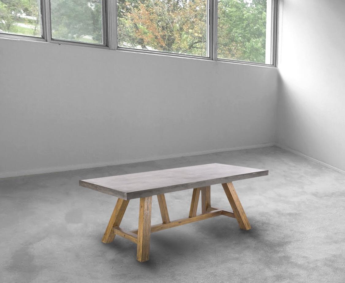 Brantley zinc modern dining table