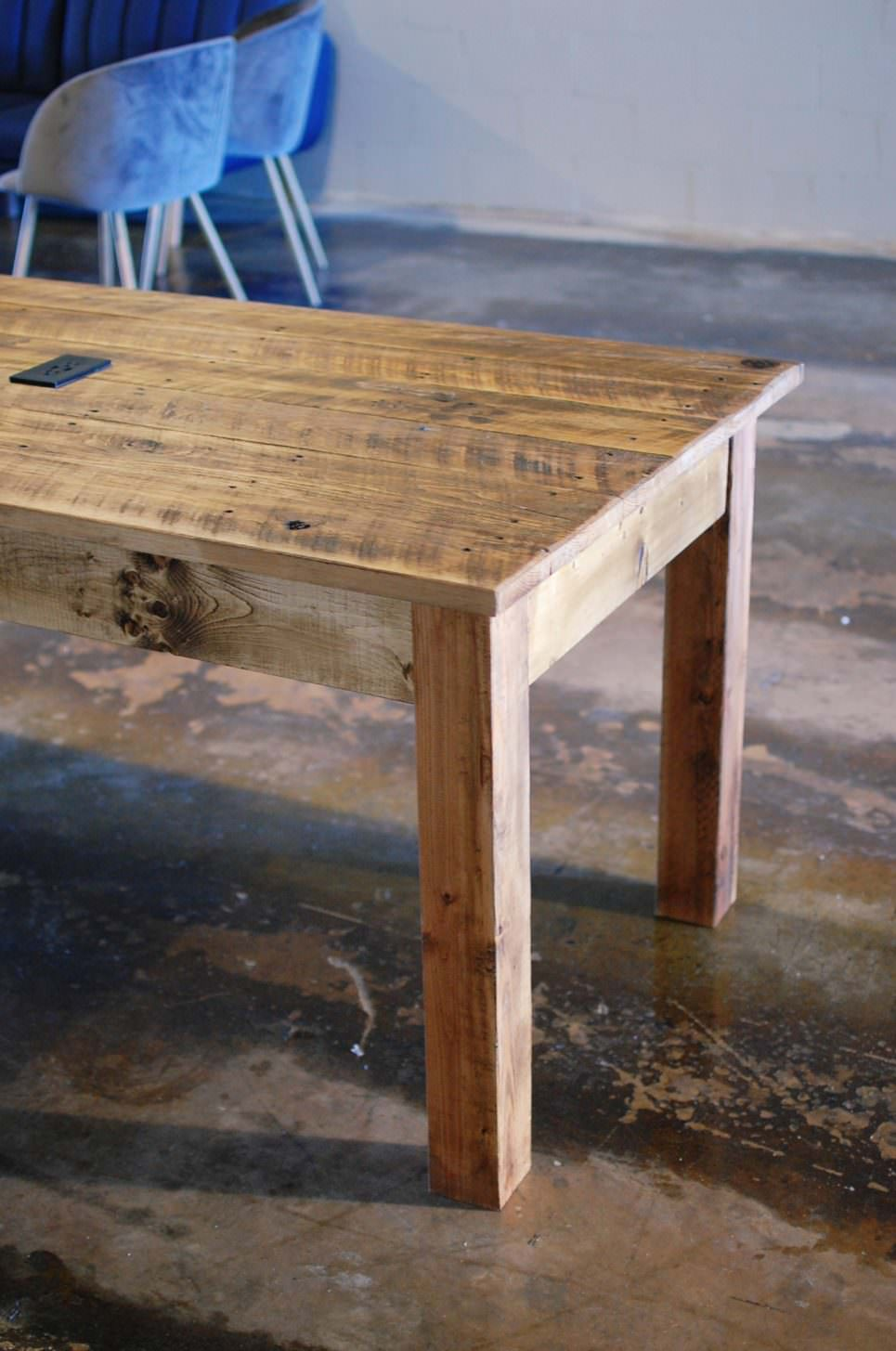 Ezekiel Wood Table with USB Charging Station