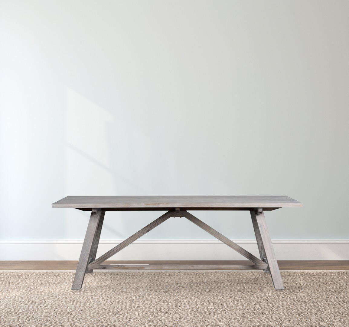 Suffolk Simplicity Reclaimed Wood Square Industrial Coffee: Madison Wood Dining Table • Southern Sunshine