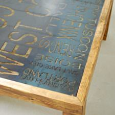 Sayer Typography Coffee Table