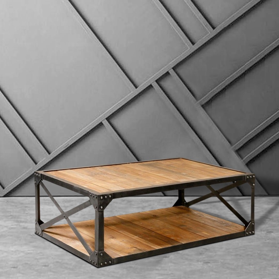 Romy Square Metal Coffee Table Am Pm: Pascoe Industrial Coffee Table • Southern Sunshine