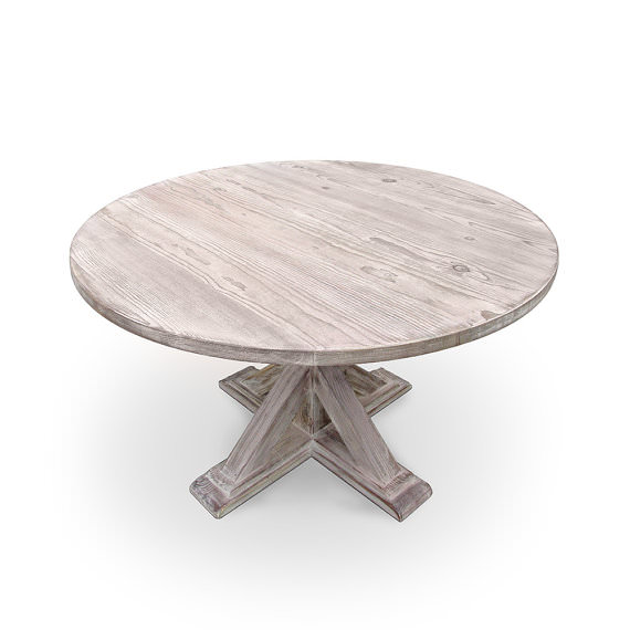Camden Round Wood Dining Table • Southern Sunshine