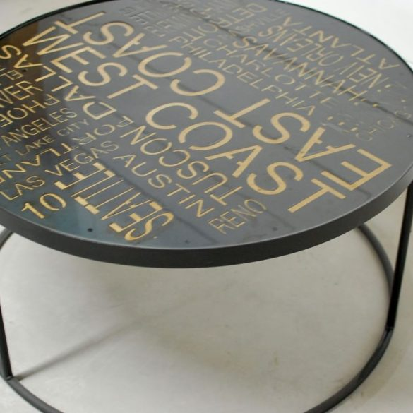 Round Maxiums Industrial Coffee Table
