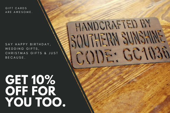 Gift Cards - Southern Sunshine