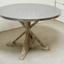Channing Zinc Dining Table