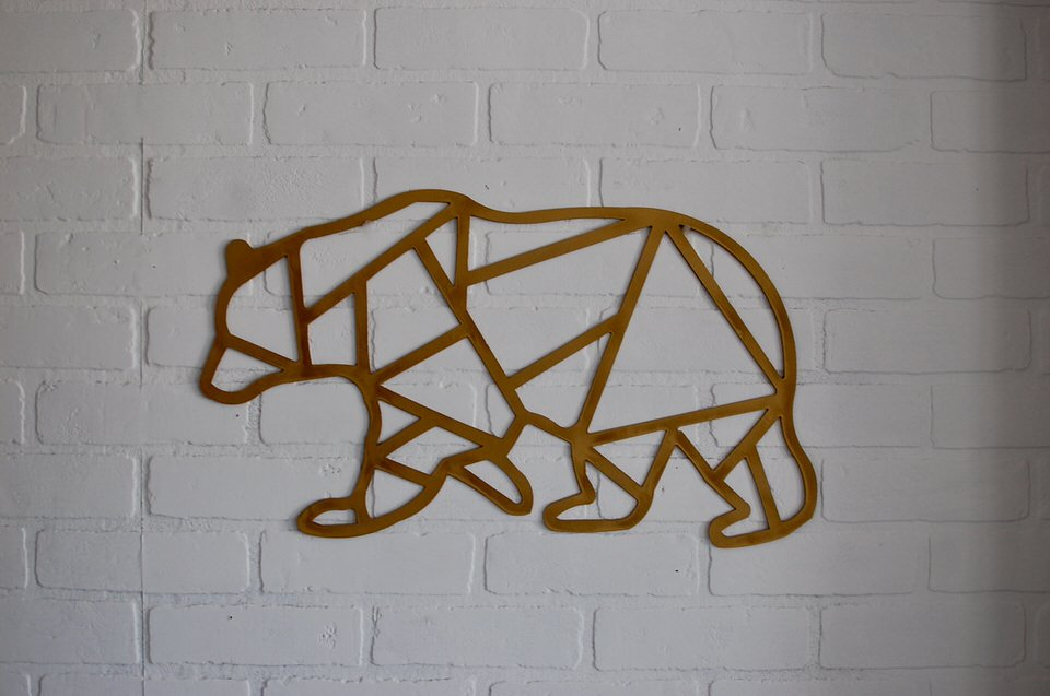 Geometric Bear Sign