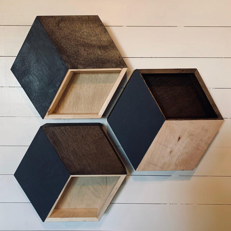 Wood Hexagon Wall Decor