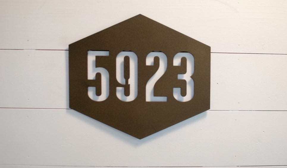 Hexagon Address Sign