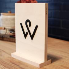 wood table signs