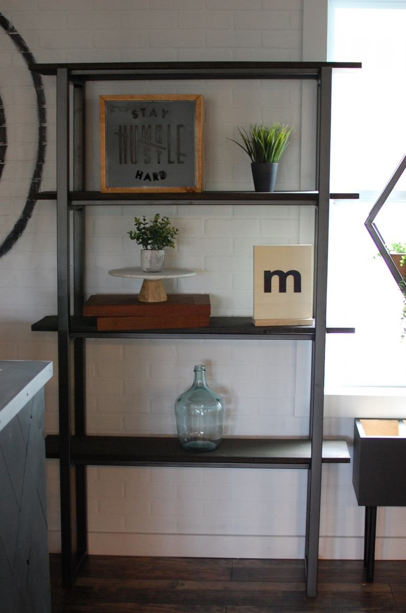 Jace Industrial Bookshelf